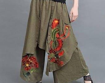 Women's Ethnic Wide Leg Pants
