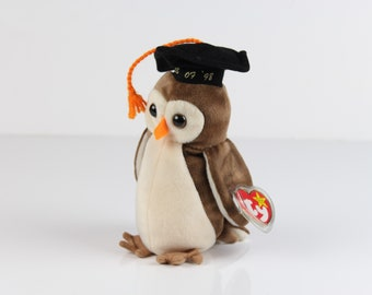 TY Beanie Baby - Wise the OWL - DOB. February 3, 1998