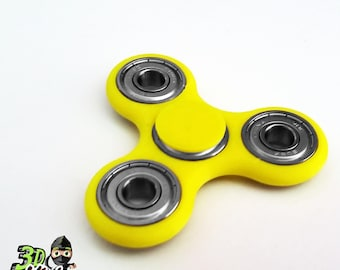 Metal Fidget Spinner | Metal Bearings | 3D Printed | Yellow | Color Options Available | Lead and Mercury Free | Made in the USA