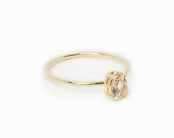 Morganite Tear Ring