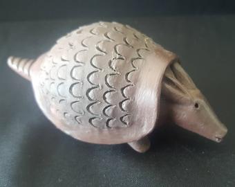 "Ceramic ""Armadillo"" Figurine, Home decor, Handmade. Artesanía Paraguaya"
