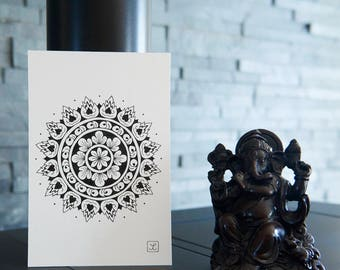 Mandala Laotian / drawing by hand / only one / gift idea / zen
