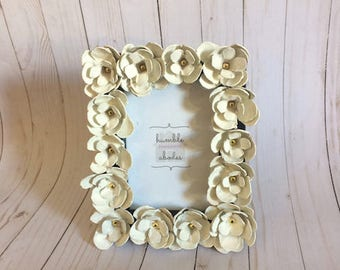 Picture Frame with Handmade Roses