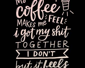 Morning Coffee - Art Print - 8x10'' - Digital Download