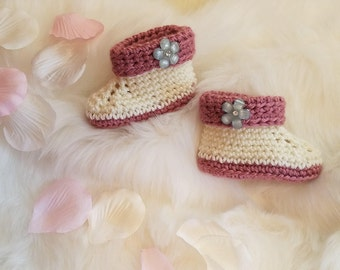 Sale!!***Crochet Baby Booties **Now only 10.00!!**