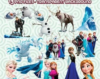 Frozen Clipart, Disney Frozen PNG, Anna & Elsa Frozen, Frozen Digital Images,  Instant Download 82