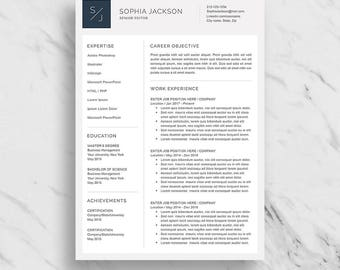 Professional Resume Template for Word | Modern Resume Design | CV Template for Word | 2 Page Resume Download | Creative Resume Template