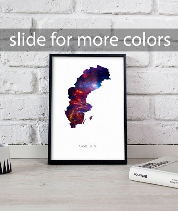 Sweden Poster Sweden Art Sweden Map Poster Sweden Print Wall - Sweden map poster