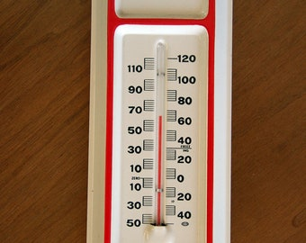 Vintage Metal Funeral Home Advertising Thermometer Mint Condition