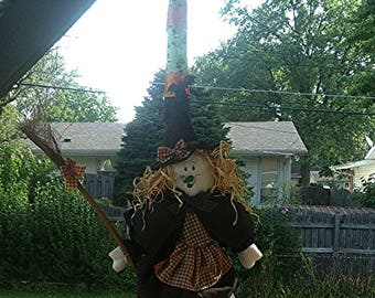 Witches broom Halloween decoration