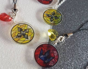 SALE * Kingdom Hearts * Sora Roxas Stained Glass Window * Necklace or Phone Charm