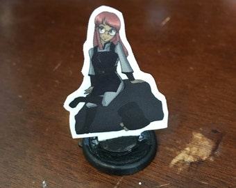 Human Wizard Kailea: Tabletop Miniature (CUSTOMIZABLE)