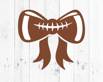 Football Bow Svg - svg, dxf, eps, png, Pdf - Download - Cut File, Cricut Explorer - Silhouette Cameo