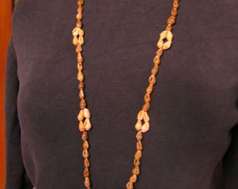 Long Shell Beaded Necklace