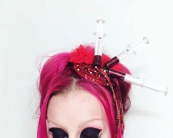 MEDICAL syringe Blood headband!