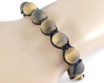 Matte Tiger's Eye Bracelet.  Adjustable Bracelet.  Healing Bracelet.