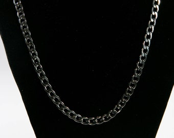 Stainless Grey Silver Necklace(DF/NL/0040A)
