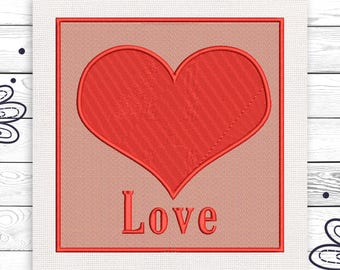 LOVE  Discount 10% Digital machine embroidery design 4 sizes INSTANT DOWNLOAD EE5050