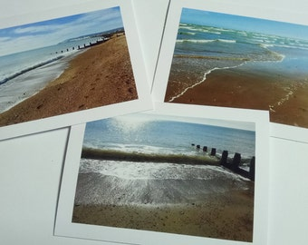 Any occasion photo card - Waves on the beach