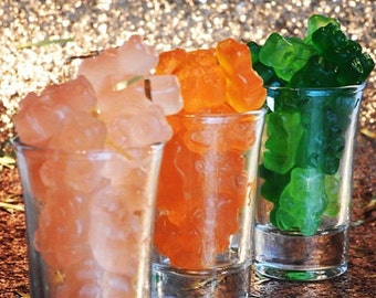 The Lux Nights Collection- Cocktail Infused gummy bears, tequila candy, rum candy, martini candy, alcohol candy, adult favors, adults only