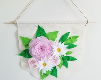 Felt Floral Banner
