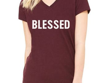 Blessed, Thankful, Thanksgiving Shirt, Fall Shirt, Grateful, Blessed Shirt, Pumpkin, BLESSED CN