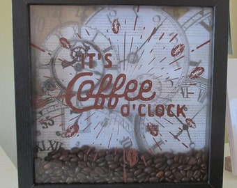 Coffee Time Shadow Box
