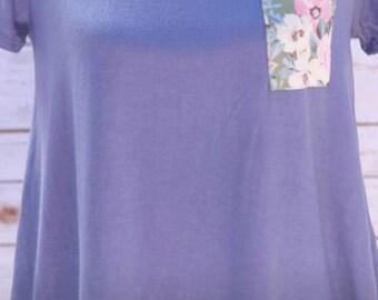 Austin Floral Pocket T