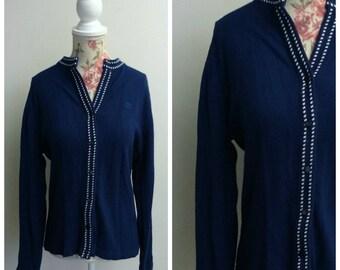 vintage 1960s blue cardigan