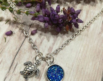 Turtle Necklace, Starfish Necklace, Seahorse Necklace, Dolphin Necklace, Sea life Necklace, Silver turtle Necklace, Turtle Jewellery, Gift