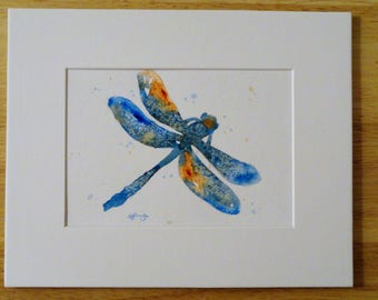 Original Painting, Dragonfly, Abstract, Unique, Canadian, Small, Original, Painting
