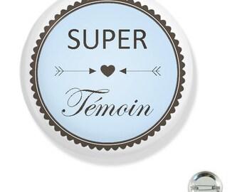 38MM badge / super blue