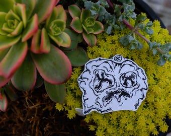 X alien sticker