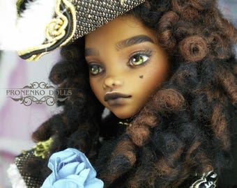"Monster High OOAK custom doll repaint  Clawdeen Wolf ""Poodle Artemon"""