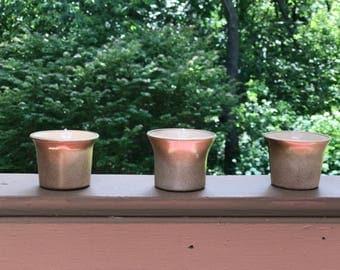 Set of 3 Modern Flared Soy Wax Tea Lights