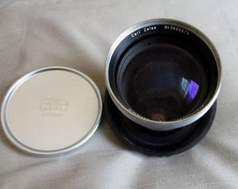 Zeiss Ikon Contaflex Pro-Tessar Camera Lens, Cover, and Plastic Case