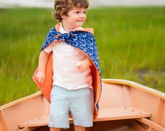 PRE ORDER Anchors Away Hero Blankie - Baby Blanket, Stroller Blanket and Hero Cape in One