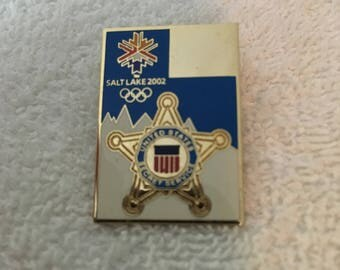 Olympics Secret Service Pin Salt Lake City 2002