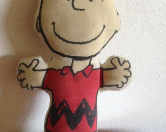 Vintage Peanuts Charlie Brown Stuffed Doll or Pillow Copyright 1950