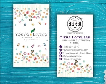 Young Living Business Card, Custom Young Living Card, Fast Free Personalization, Essential Oil Business Card, Printable Business Card 0011