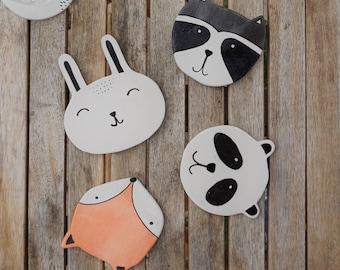 Animal Coaster - Set of 4 Ceramic Coasters - Mix & Match - Animal Coasters - Wildlife Coasters - Handmade Coasters - Drink Coasters - Gift
