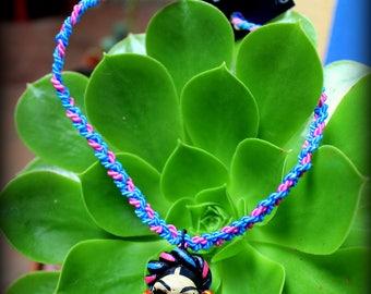 Collar Catrina Dia de Muertos. Necklace Catrina Day of the deads.