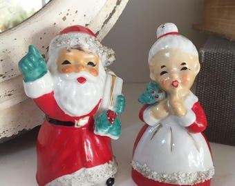Lefton Santa and Mrs. Claus Salt & Pepper Shakers