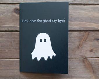 Boo Bye! Halloween Card