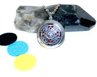 Thor Hammer Celtic - diffuser pendant, aromatherapy, doterra Free sample oils included, Unisex Pendant