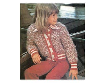 Childrens Sport Coats Crochet & Knitting Pattern