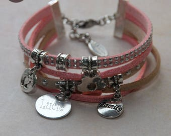 "Personalized with names ""Basic"" Marshmallow bracelet"