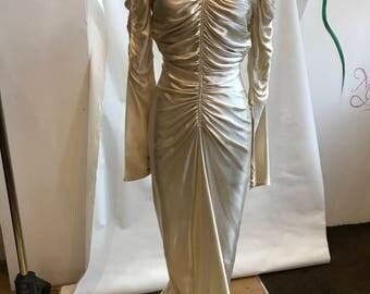 40s silk wedding dress