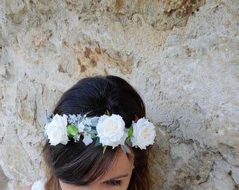 Adult white flower Crown