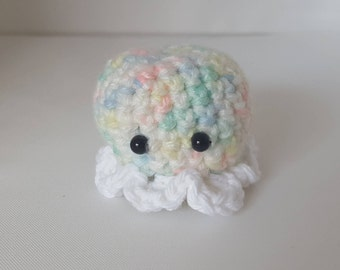 SALE little rainbow amigurumi octopus